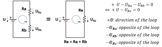Resistors in series KVL