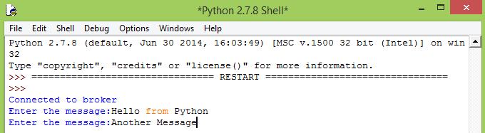 Python command line raw input