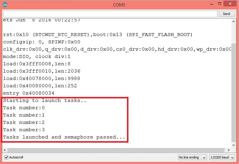 ESP32 FreeRTOS counting semaphores