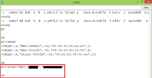 WiFi Bee connect to AP command