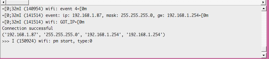 ESP32 MicroPython WiFi connect get IP