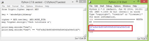 ESP32 Arduino: Encryption using AES-128 in ECB mode