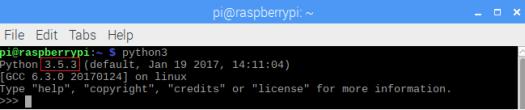 Raspberry Pi Python 3.5 interpreter