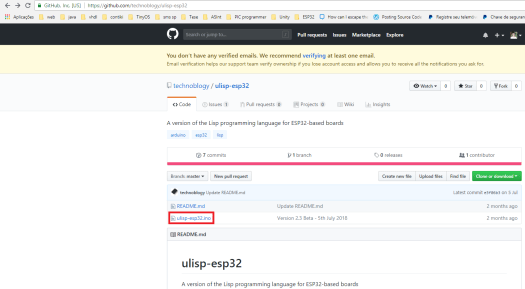 uLisp Arduino file on the GitHub repository
