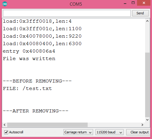 ESP32 Arduino removing file from SPIFFS file system