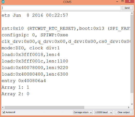 Output of the program where the cpplinq all operator was applied to two arrays.