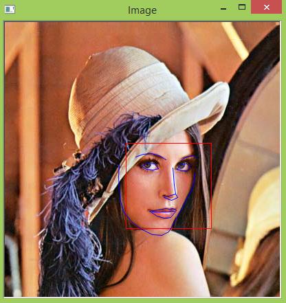 Face landmarks detection using the 68 points model.