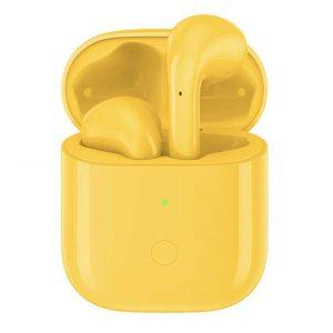 ريلمي سماعات لاسلكية مع علبة شحن – أصفر