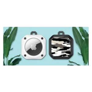 Eggshell Camo Airtag Case & Chain...
