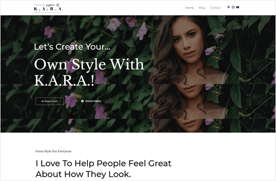 Astra's Fashion Lifestyle template