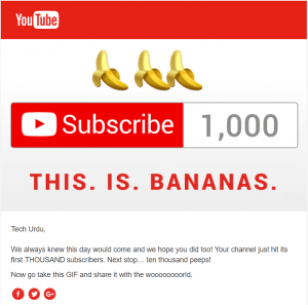 1000 Subscribers - email
