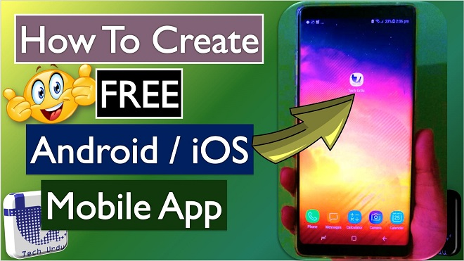 How to make a mobile app for android free