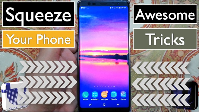 Side Squeeze Mobile App Review - Squeeze Your Android Phone - Tech Urdu