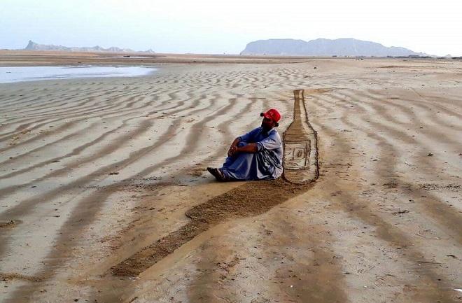 3D Sand Art on Balochistan Coasts - Tech Urdu