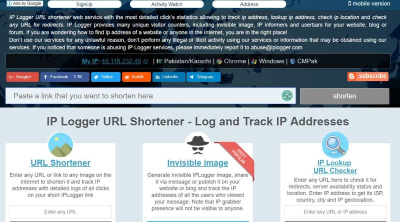 how to open website using ip address