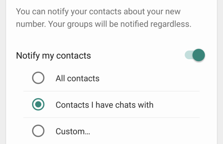 WhatsApp Change Number Feature. WhatsApp Change Number Feature