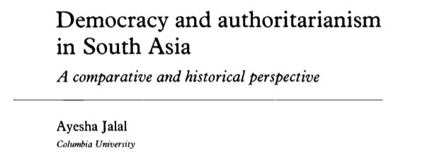 Democracy and Authoritarianism in South Asia - Tech Urdu