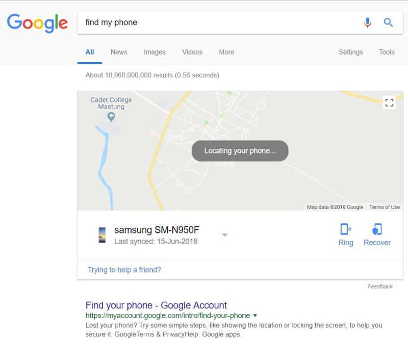 Find My Phone-Google - Tech Urdu
