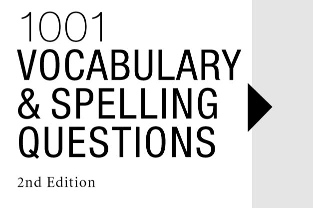 1001 VOCABULARY & SPELLING QUESTIONS (2nd Edition) - Tech Urud