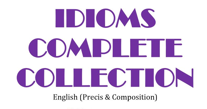 Idioms Complete Collection (Free Download)