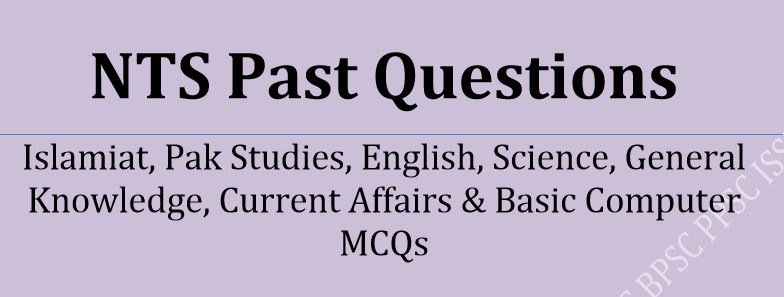 NTS Past Questions Solved