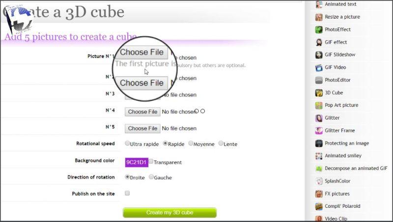 Create a rotating cube logo 1
