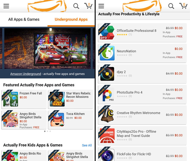 Using Amazon Underground to Get Paid Apps for Free