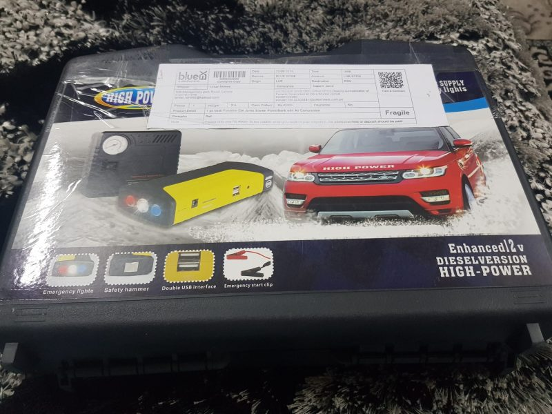 Multi-Function Car Jump Starter Power Bank with Air Compressor 2