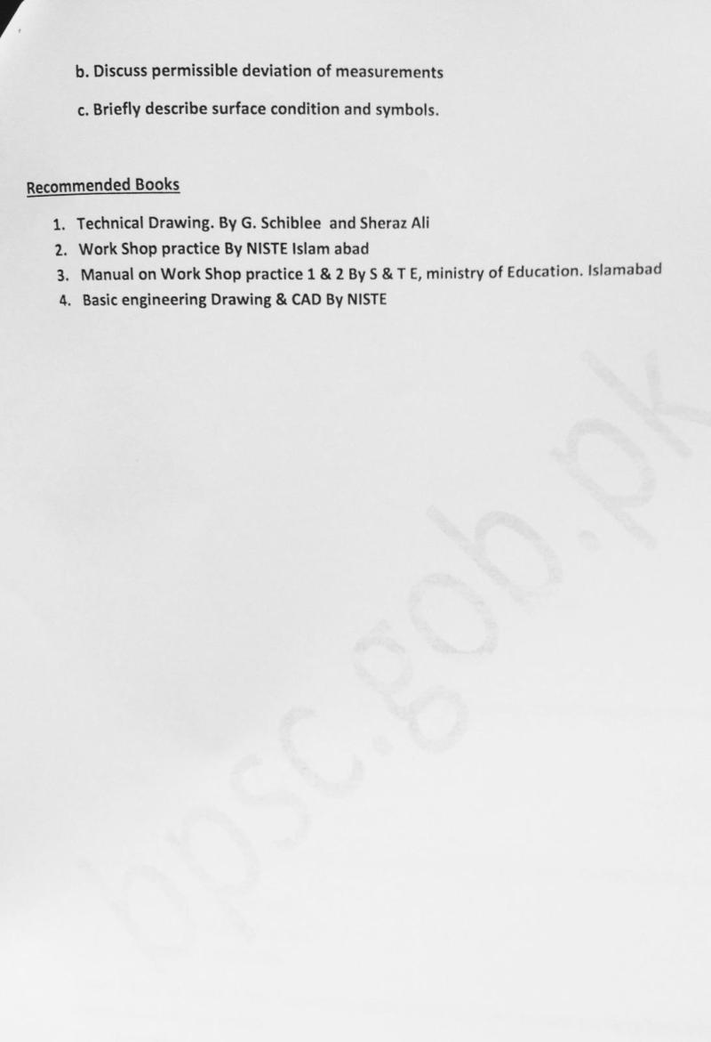 S.S.T Tech Question Papers (Male) Balochistan Public Service Commission - BPSC - Tech Urdu