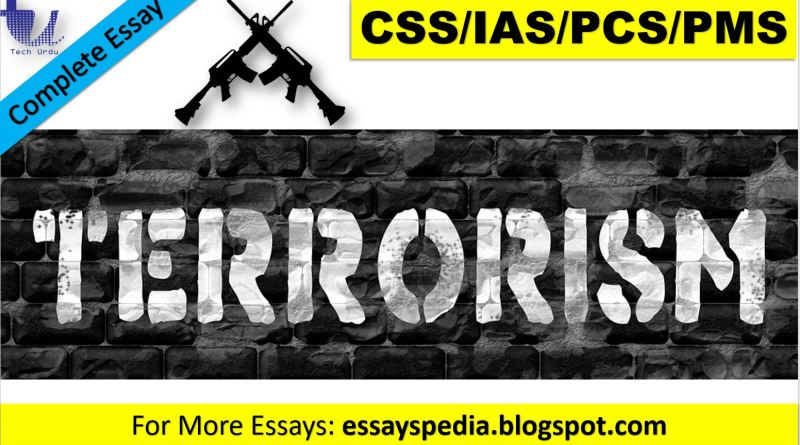 Definition of Terrorism | Complete Essay with Outline - techurdu.net