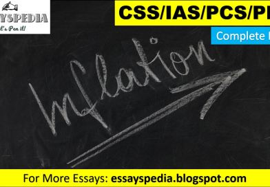 The Menace of Inflation   Complete Essay with Outline - techurdu.net