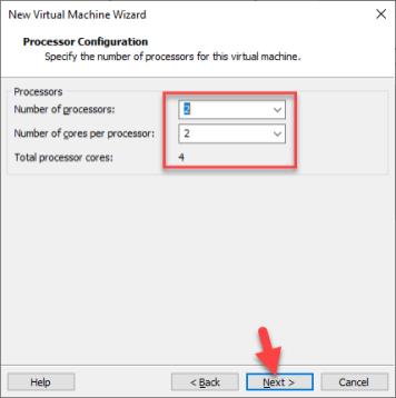 MacOS Mojave Processor Configuration