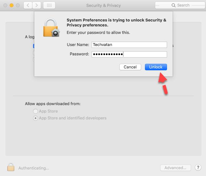 Unlock Extension with Admin Password