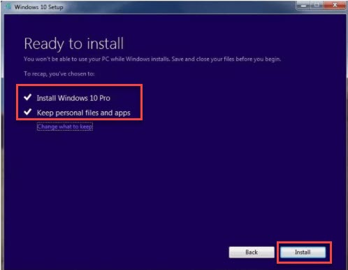 Windows 10 upgradation