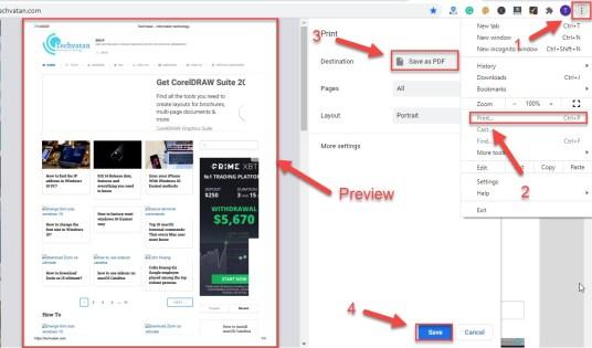 save web page as pdf