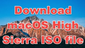 install macOS high sierra DMG file