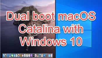 dual boot Windows 10 with macOS Catalina