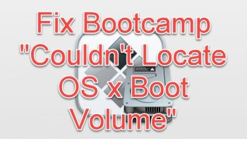 Couldn't Locate OS x Boot Volume