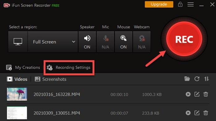 screen recorder of mac