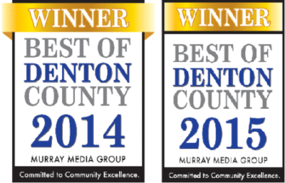 Best of Denton County Award 2014 2015