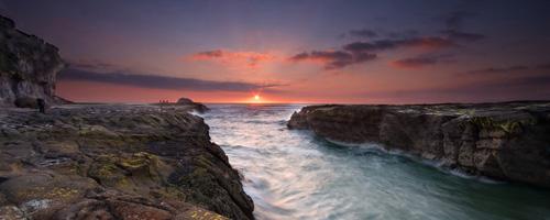 sunsetatmuriwaibeachnewzealand
