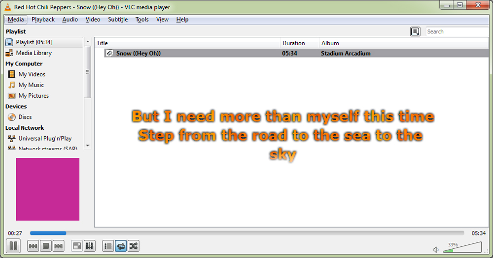 How To Display Lyrics of Songs in VLC Media Player