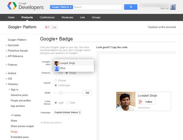 create-a-google-plus-badge