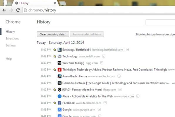 Google-chrome-history