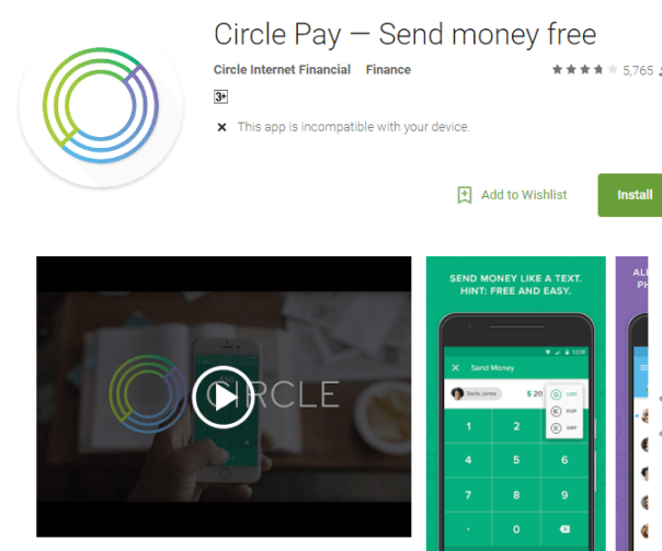 Circle Pay App-Send Money Free to Anyone in the World