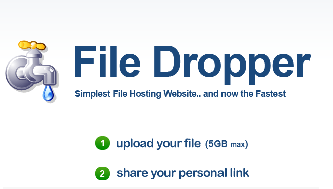 FileDropper-Top Websites to Share Large File