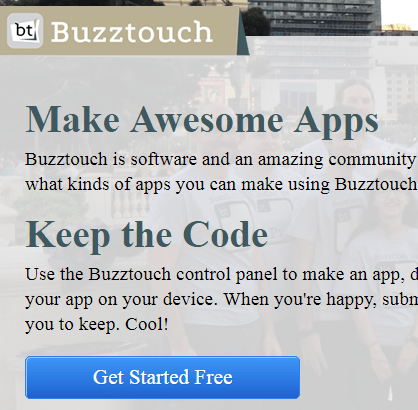 Mobile App Maker Wesite-Buzztouch