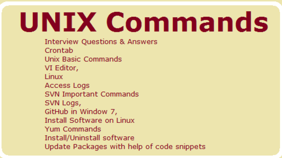 Unix Commands