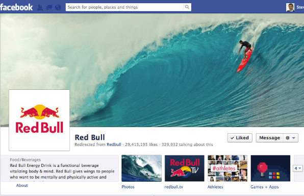 Red Bull Brand Facebook Pages