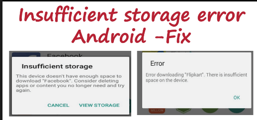 Insufficient Storage Error